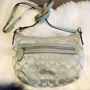 Coach ~ Small Light Blue Fabric Crossbody Purse